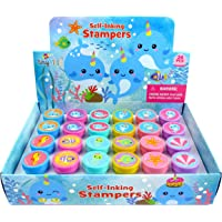 TINYMILLS 24 Pcs Narwhal Stampers for Kids