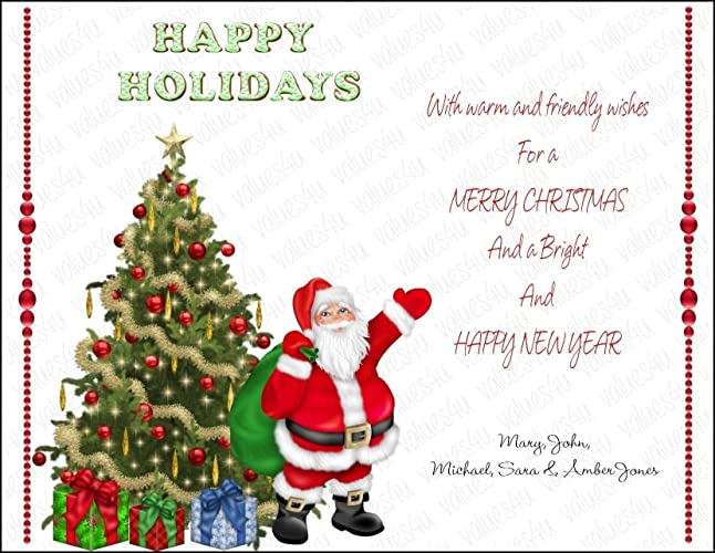 personalized christmas card 1011 digital print your own or printed packs of