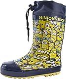 Boys Kids Despicable Me Minions Rubber Tie Top Wellies Wellington Boots Size UK 7-1