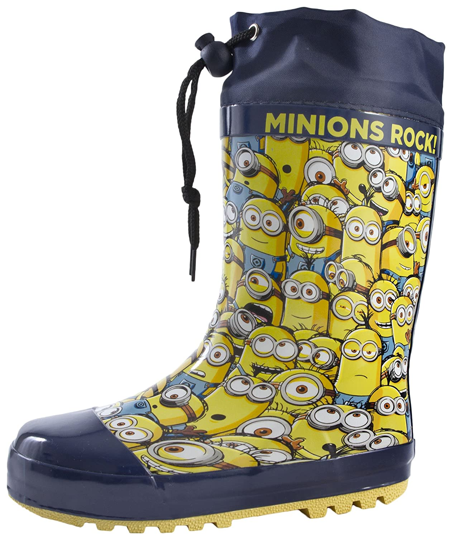 MINIONS Boys Kids Despicable Rubber Tie Top Wellies Wellington Boots Size UK  7-1: Amazon.co.uk: Shoes & Bags