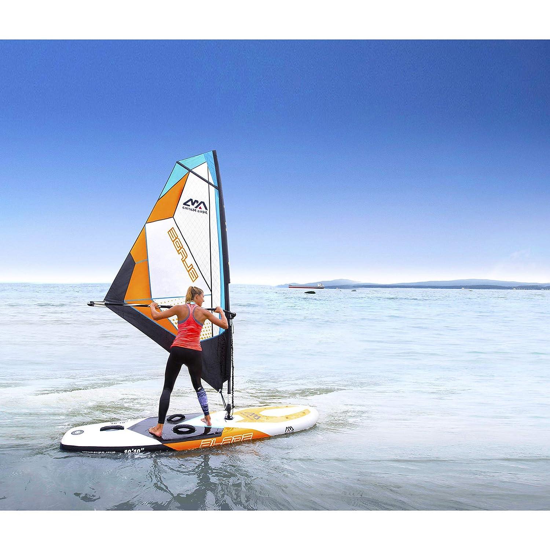 Aqua Marina Blade aufblasbares Windsurf SUP inkl Segel 330x80x15cm