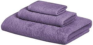 AmazonBasics Quick-Dry Towels - 100% Cotton, 3-Piece Set, Lavender