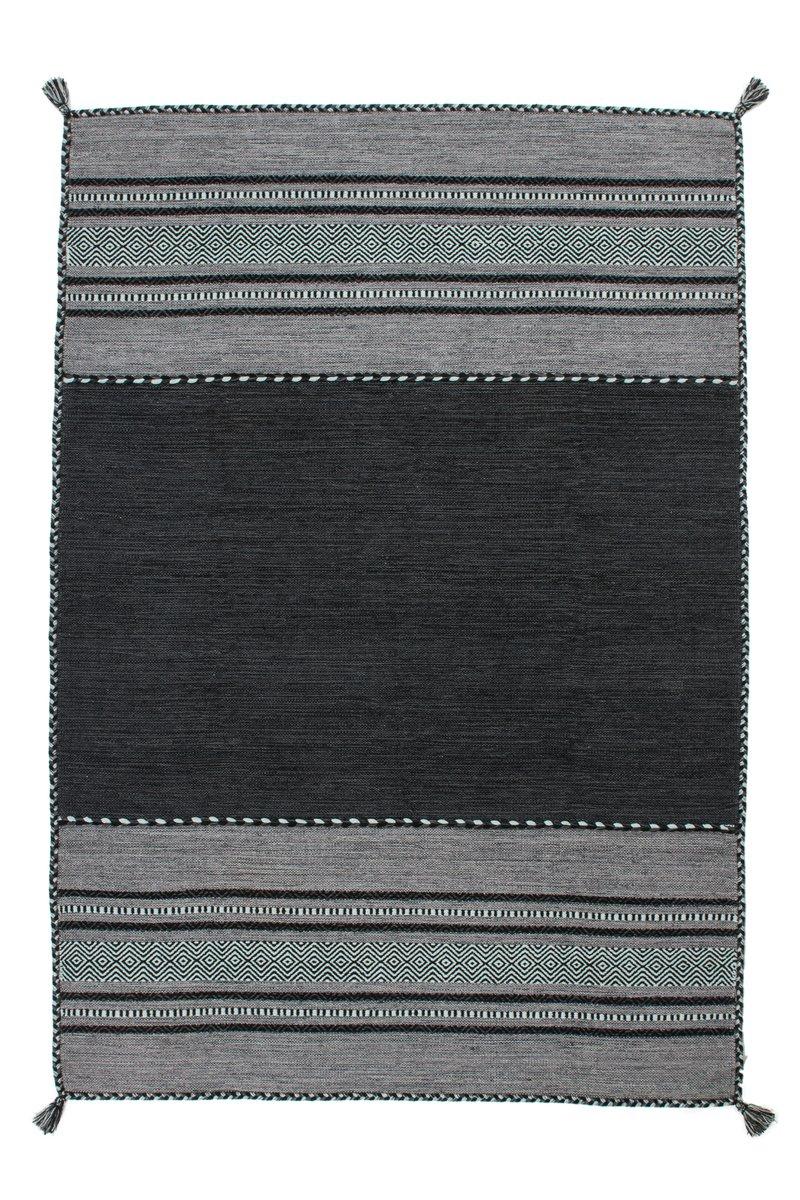 Lalee Teppich Wohnzimmer Orient Carpet klassisches Design Rug Alhambra 335 Grau 100% Baumwolle 160x230cm | Teppiche günstig online kaufen