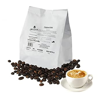 100 Cápsulas de Café Compatibles con Lavazza A Modo Mio, paquete de 100 capsulas Capuchino