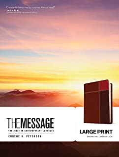 The Message Large Print: The Bible in Contemporary Language