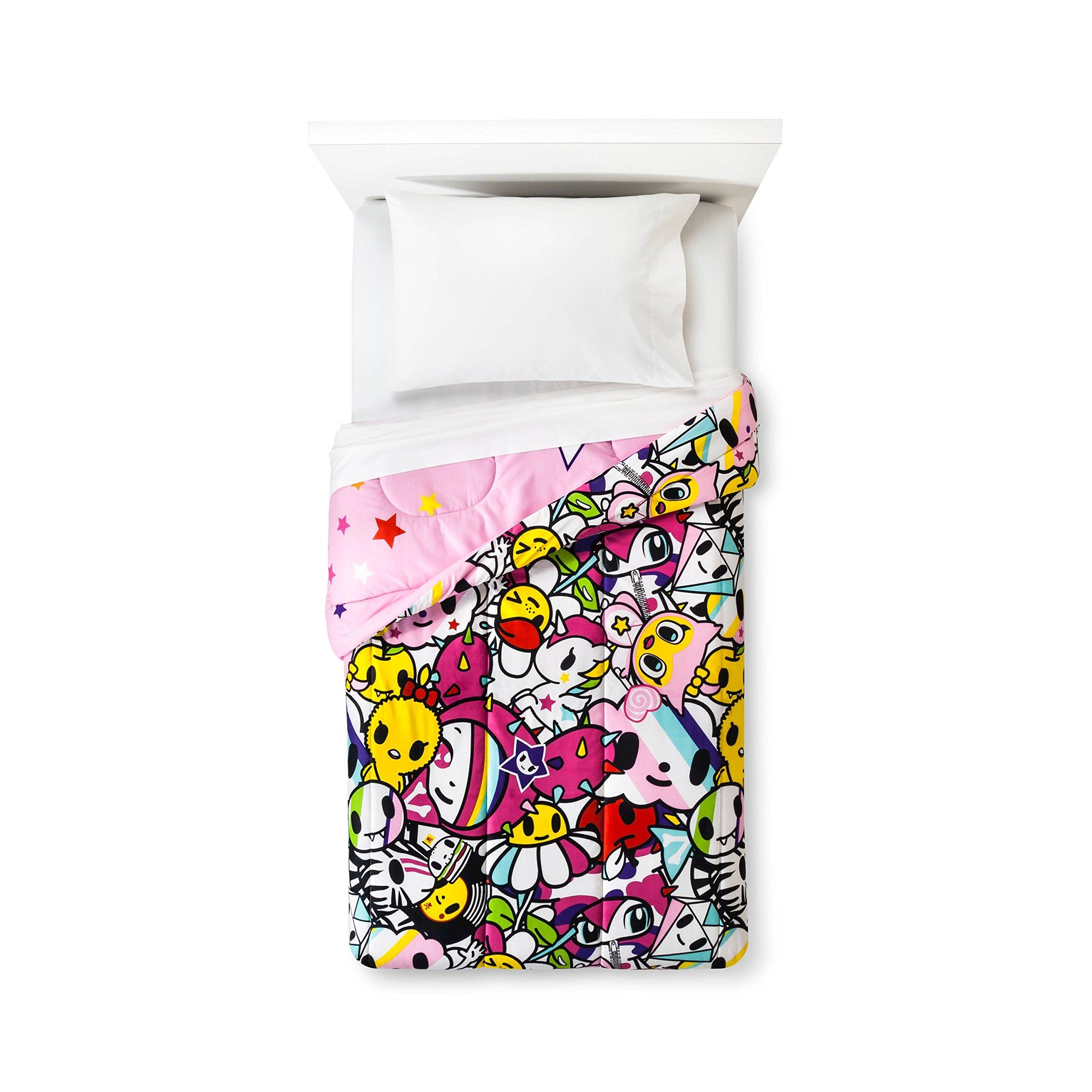 Neonstar by Tokidoki I Love Unicorns 4pc Bedding Set Comforter + Sheets (Twin Size) by Jay Franco (Image #2)