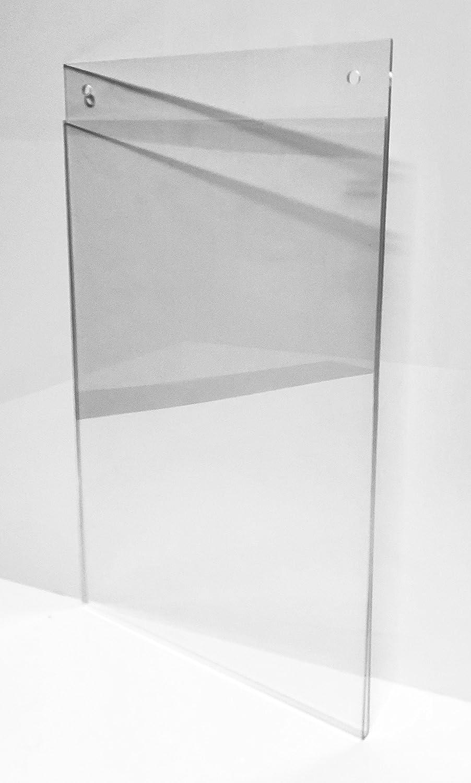 Porta poster/Portafoto/Porta retrato/Porta precios (VERTICAL) Modelo Sandwich Metacrilato con taladros para colgar 297mmx210mm (DIN A4): Amazon.es: Hogar