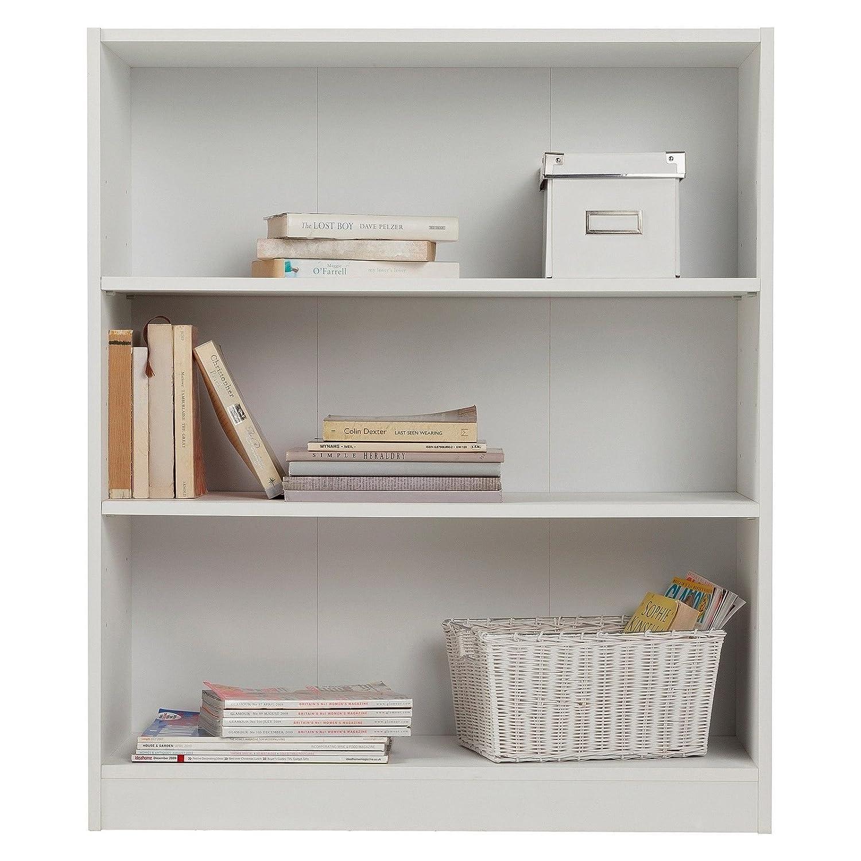 Estante, Librería, pequeña, extra profunda - blanca., madera, Blanco, Size H91.5, W78, D29cm.: Amazon.es: Hogar