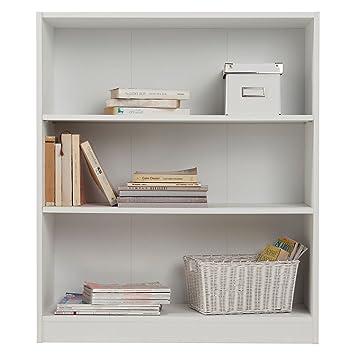 Estante, Librería, pequeña, extra profunda - blanca., madera, Blanco,