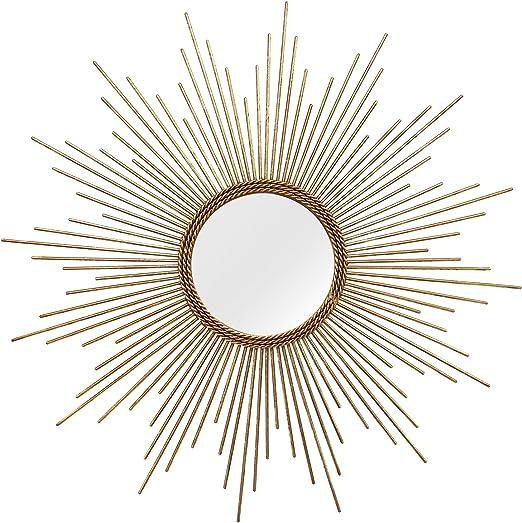 Amazon Com Stratton Home Decor S01029 Andrea Wall Mirror 26 00 W X 1 25 D X 26 00 H Gold Home Kitchen