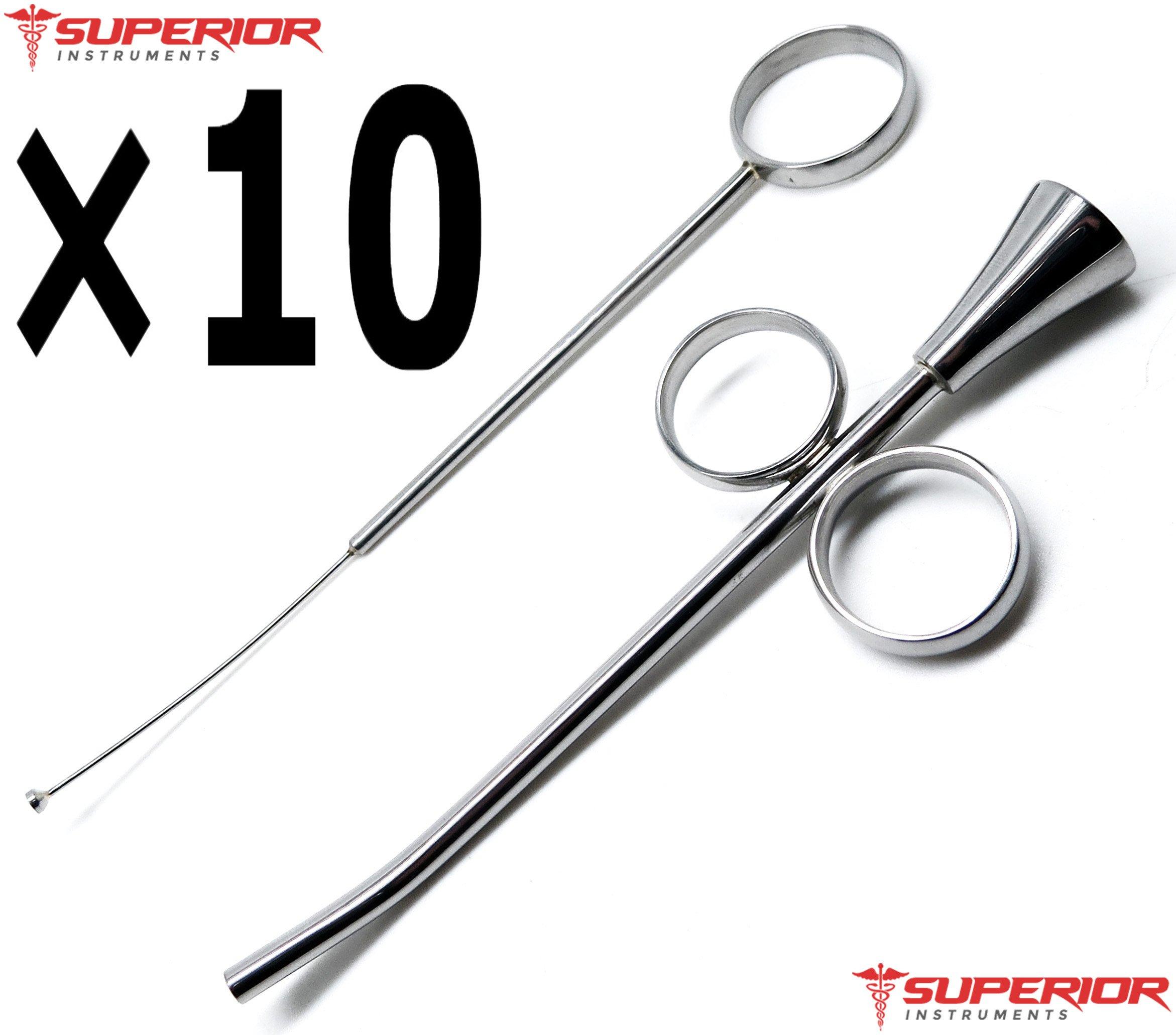 10 Pcs Superior Dental Syringes 4.5mm Amalgam Implant UPGRADED DESIGN Stainless Steel Instruments