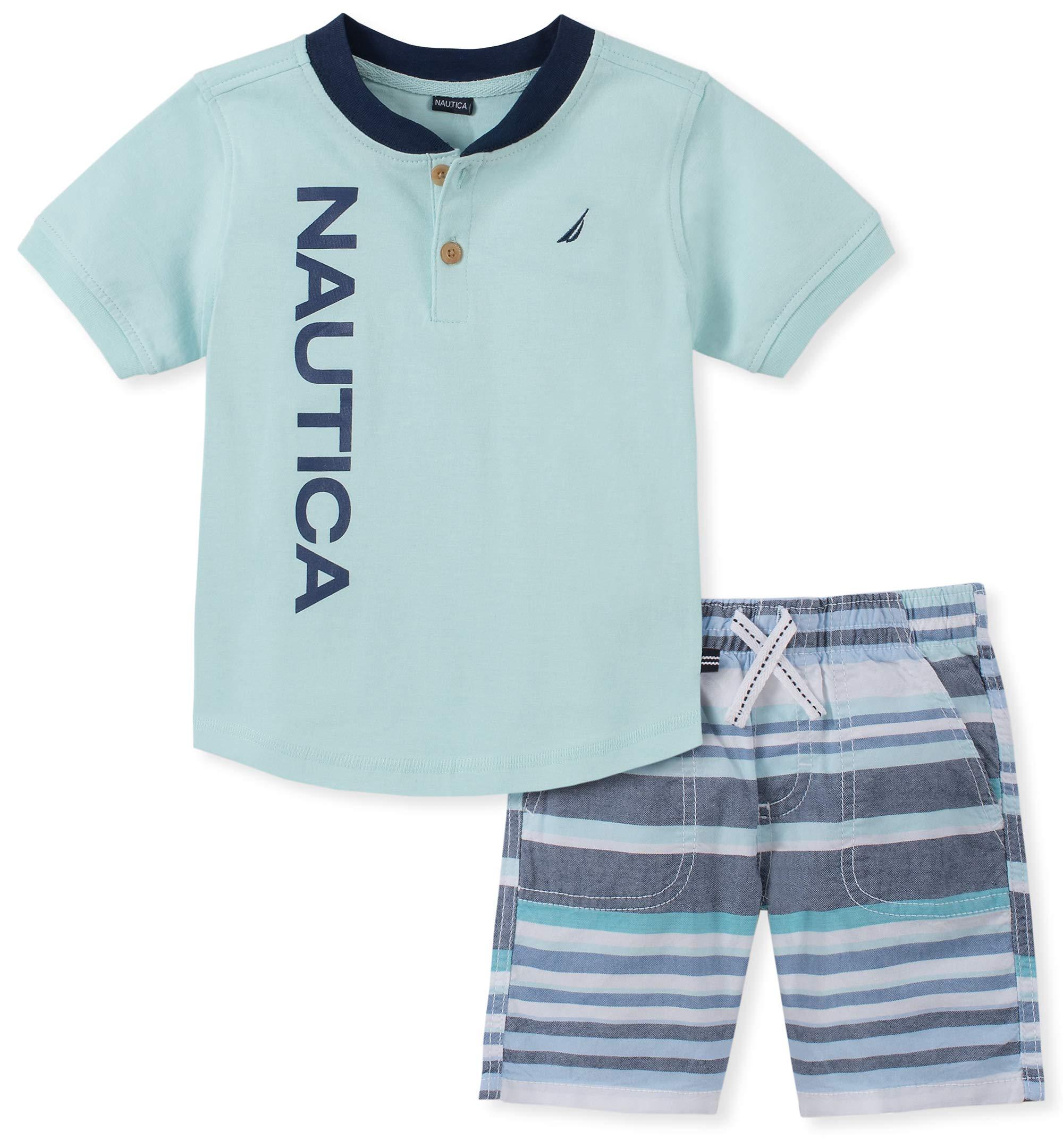 Nautica Sets (KHQ) Boys' Toddler 2 Pieces Shorts Set, Multi, 4T