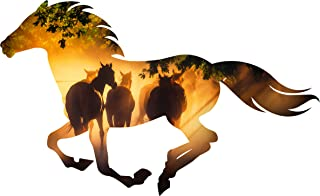 product image for Next Innovations Horse Shaped Metal Wall Décor – Metal Wall Art - Hanging Wall Décor – Misty Morning