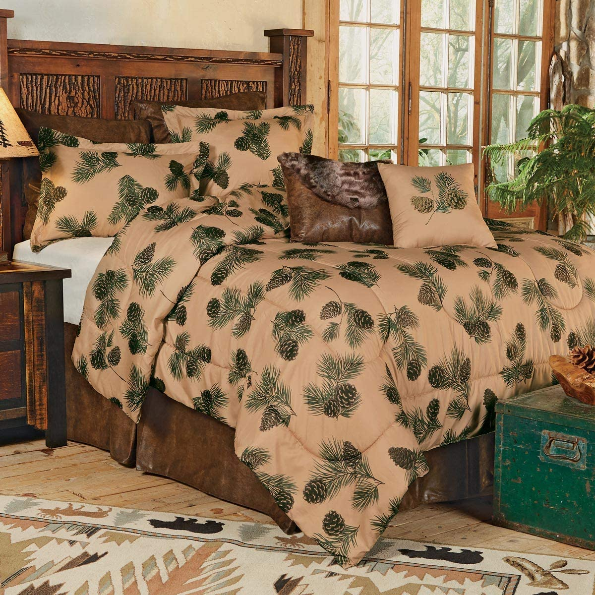 BLACK FOREST DECOR Pinecone Ridge Bed Set - King