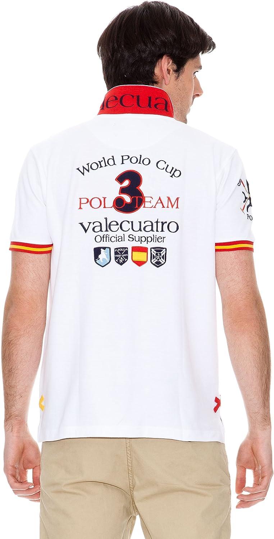 Valecuatro Polo Logo España Países Blanco L: Amazon.es: Ropa y accesorios