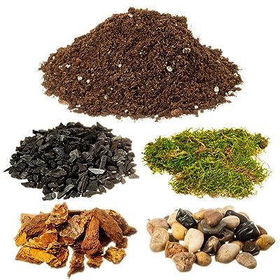 DIY Terrarium and Succulent Planter Kit | Includes Hoffman Soil Mix, Charcoal, Orchid Bark, Decorative Pea Gravel and Moss| Plus Free Nautical Ebook by Joseph Rains: Garden & Outdoor