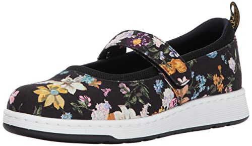 84aa97cef5133 Dr. Martens Women s Askins Df Black Darcy Floral Fine Canvas Mary Janes, 3  UK