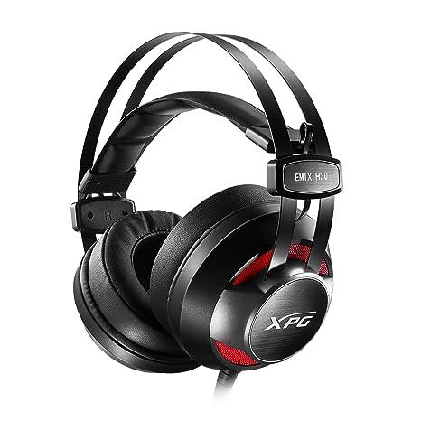 XPG EMIX H30 + SOLOX F30 Binaural Diadema Negro, Rojo Auricular con micrófono - Auriculares con micrófono (Consola de Videojuegos + PC/Videojuegos, 0,025 W, ...