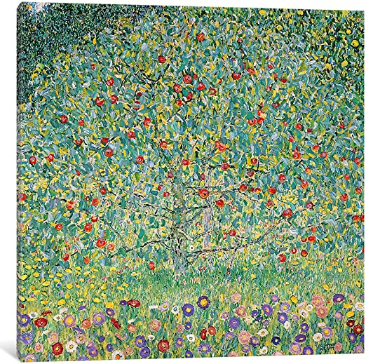 Gustav Klimt Apple Tree Art Canvas Print Ready to Hang