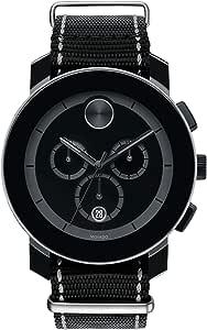 Movado Black Nylon Black dial Watch for Women, Men 3600308