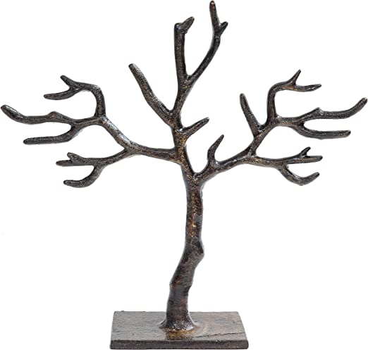 Amazon Com Kindwer 20 Branch Tree Of Life Jewelry Holder 13x4x11 Brown Home Kitchen