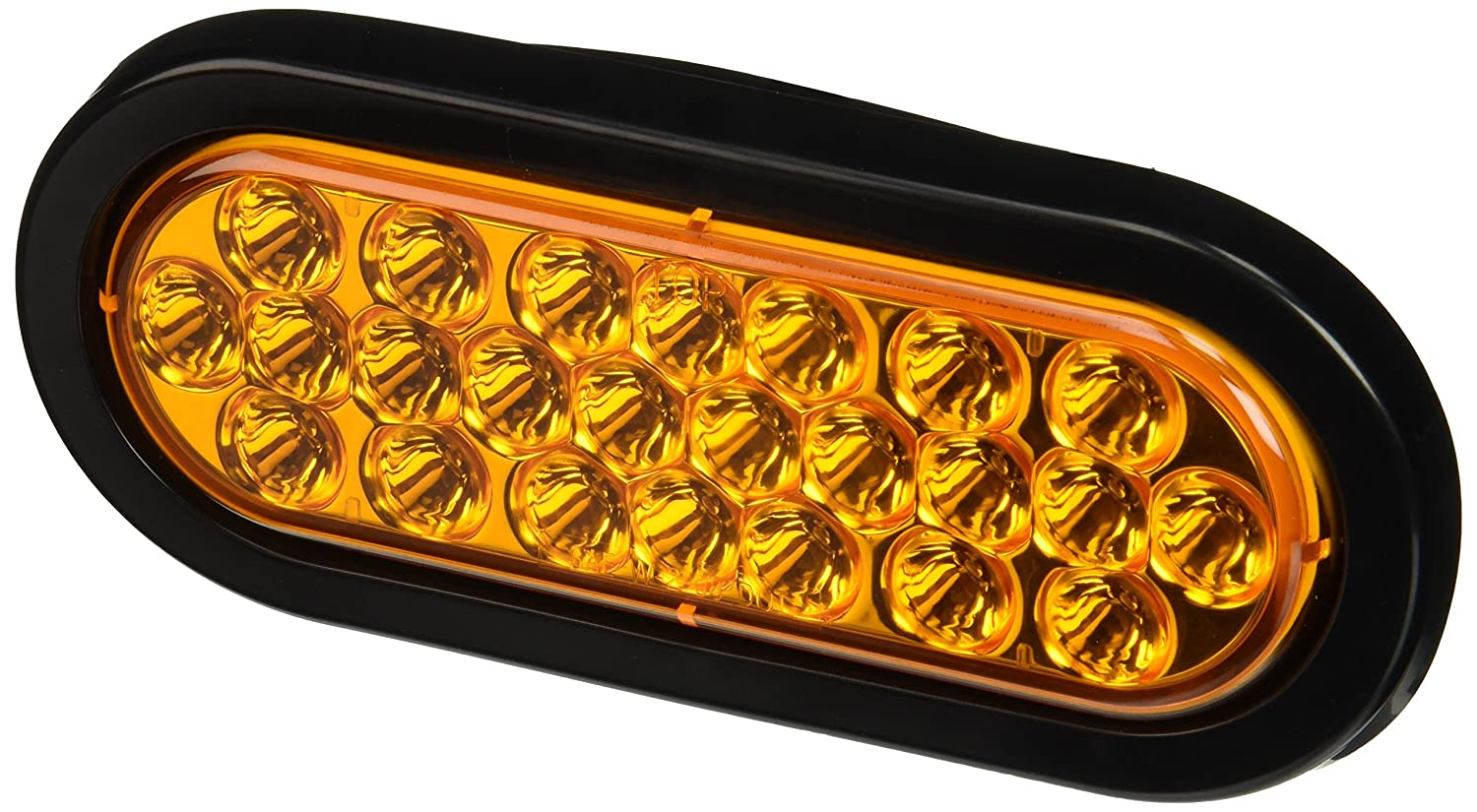 "Buyers Products 6"" Oval LED Recessed Strobe Light, Amber"