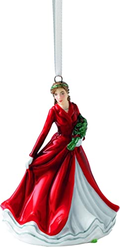 Royal Doulton Deck The Halls Ornament, 2.2 by 2.4 by 3.1 , Multicolor