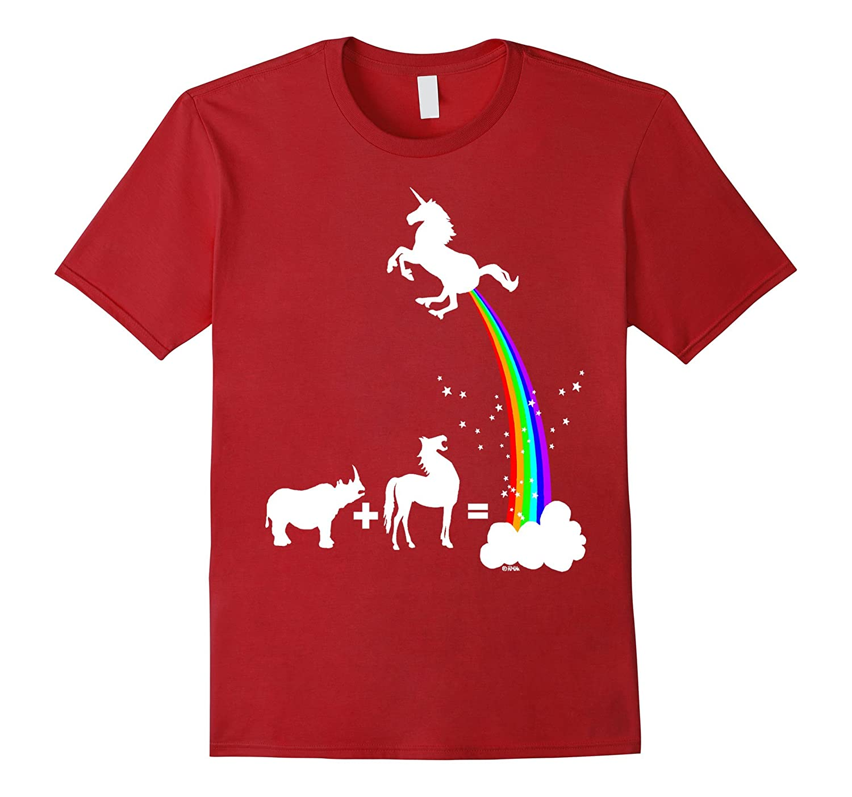 a368cd8a24 Funny Unicorn rainbow T-shirt kid adult women girl top gift-RT ...