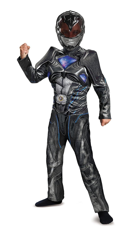 Disguise Ranger Film Classic Muscle Kostüm, schwarz 7 7 7 - 8 Jahre schwarz Power Ranger mit Muskeln 122 128 939820