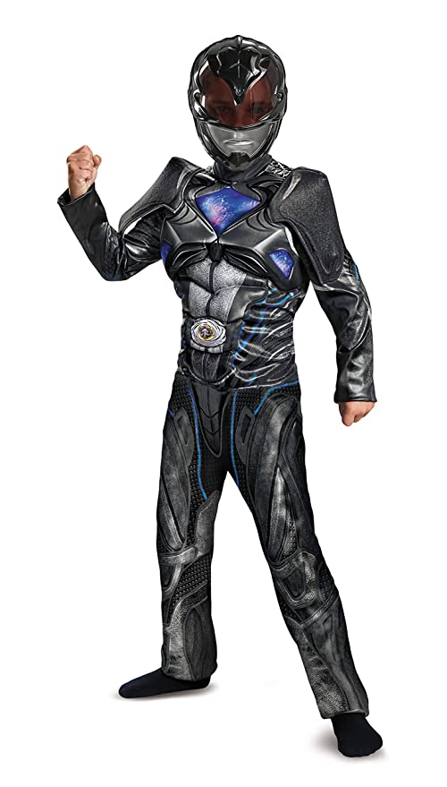 Disguise Power Ranger Movie Classic Muscle Costume Black Small 4 6