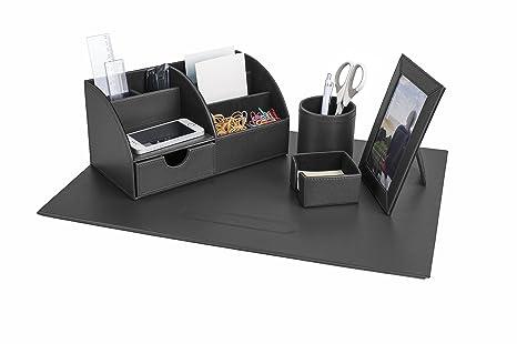 Accessori Per Scrivania Ufficio : Pavo 8006106 set di eleganti accessori da scrivania in similpelle