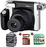 Bundle Fuji Instax 300 Wide Instant Camera +30-Shot Wide Film + Smart Carry Case + Panasonic Gold Batteries