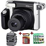 Bundle Fujfilm Instax 300 Wide Instant Camera +100-Shot Fuji Wide Film + Smart Carry Case + Panasonic Gold Batteries