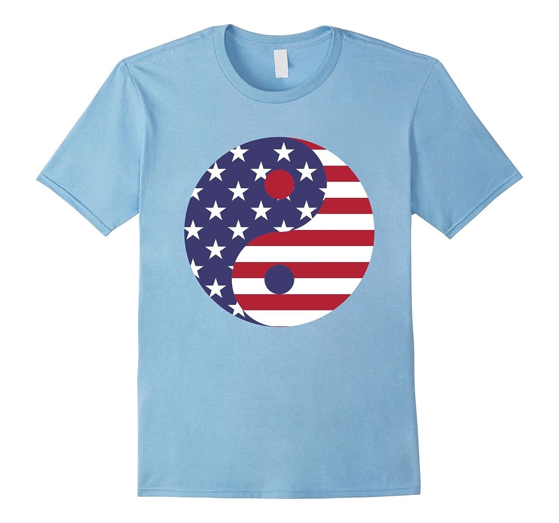 Yin Yang USA Flag T Shirt-TH