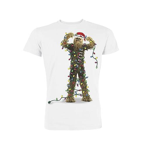724f12294bd Star Wars Men s Chewbacca Lights Christmas T-Shirt