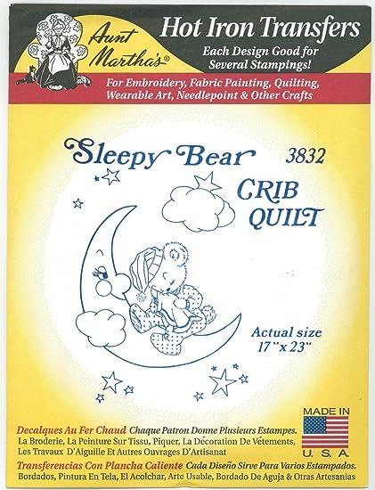 Amazon.com: Sleepy oso cuna colcha tía Martha s hierro ...