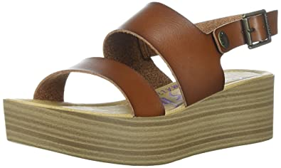 5cbd4788d0 Blowfish Women's Lola Wedge Sandal Brown: Amazon.co.uk: Shoes & Bags