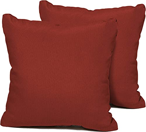 TK Classics Terracotta Outdoor Throw Pillows Square Set of 2 Terracotta