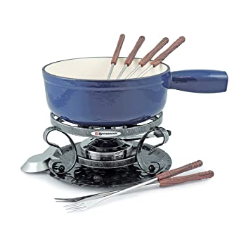 Swissmar Lugano 9 Piece Cheese Fondue Set