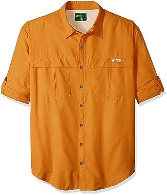 6c2dc84467a G.H. Bass & Co. Men's Big and Tall Explorer Survivor Long Sleeve Point  Collar Fishing Shirt