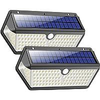 Luz Solar Exterior,Trswyop [2 Unidades-128LED-2200mah] Luces Solares Foco Solar Exterior con Sensor de Movimiento, 270…