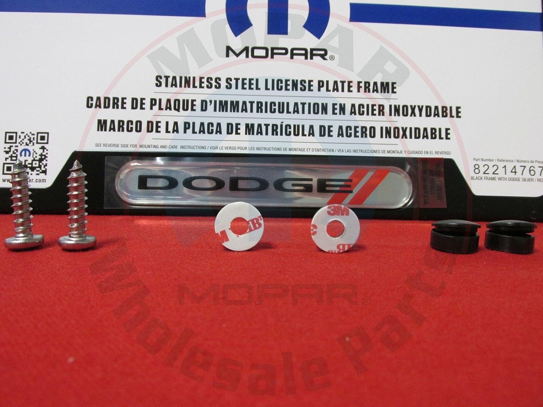 Amazon.com: Dodge Black Logo License Plate Frame - 82214767 ...