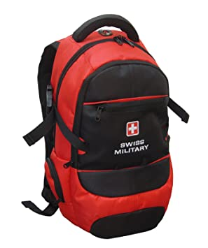 Swiss Military Unisex 20 Liters Red and Black Laptop Backpack  LBP6
