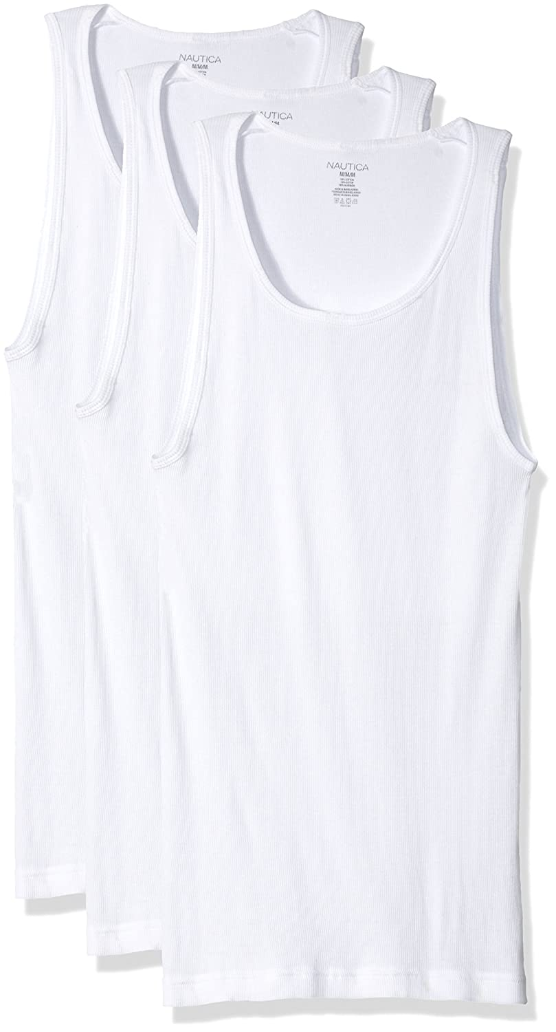 bbf3b344d7f1f Nautica Men s Comfort Cotton A Shirt Tank - Multipack at Amazon Men s  Clothing store
