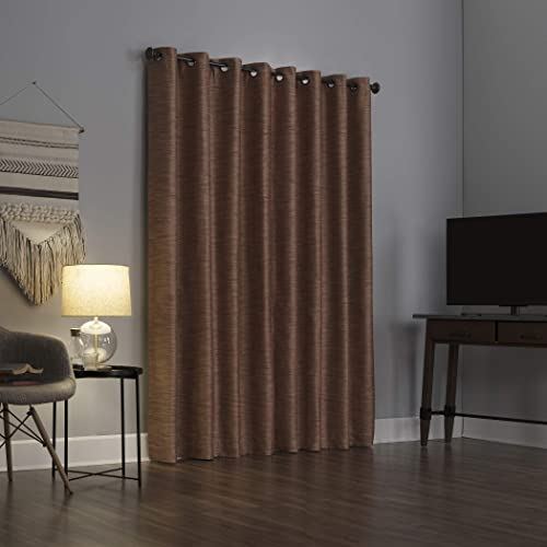 Sun Zero 56562 Raul Woven Stri Theater Grade Extreme 100 Blackout Grommet Curtain Panel