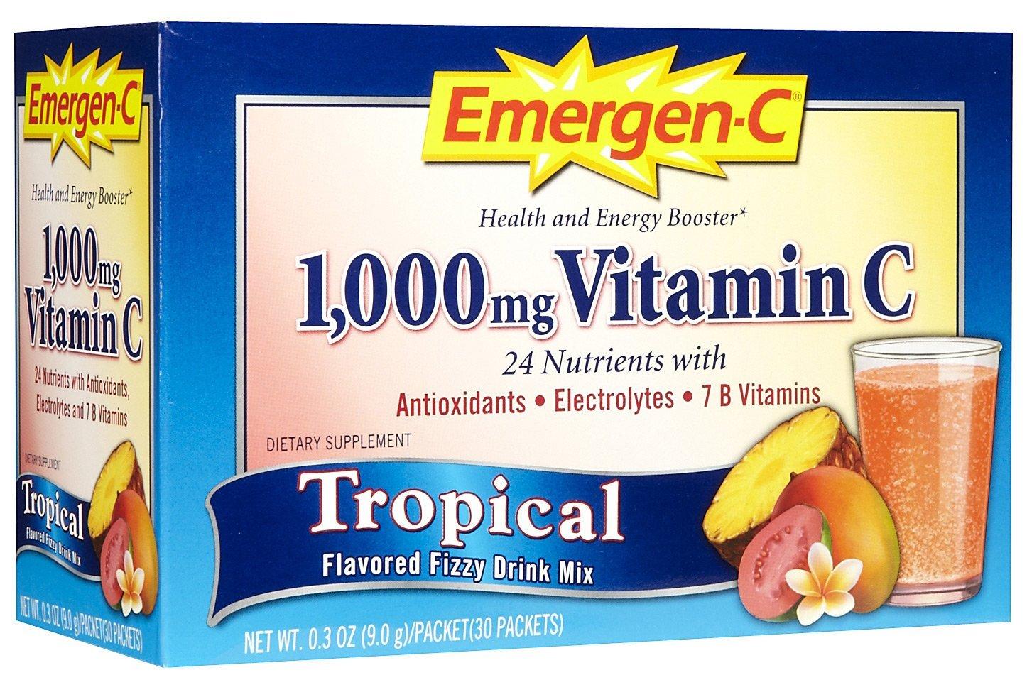 Emergen-C, Tropical, 30 pkt (Multi-Pack)