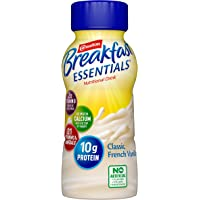 Carnation Breakfast Essentials Ready-to-Drink, Classic French Vanilla, 8 Ounce Bottle (Pack of 24)