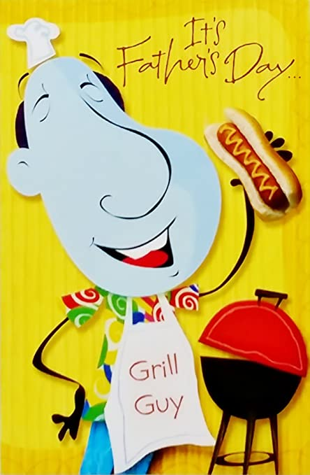 Amazon happy fathers day greeting card for guy grill and happy fathers day greeting card for guy quotgrill and chillquot bbq m4hsunfo