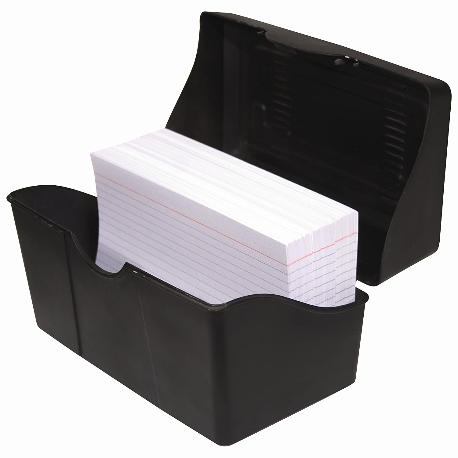 advantus 3 x 5 index card holder 300 card capacity