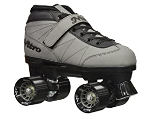 Best Speed Roller Skates - Epic Skates 2016 Epic Nitro Turbo 8 Indoor/Outdoor Quad Speed Roller Skates, Gray